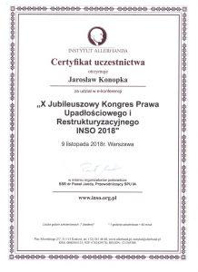 Certyfikat Jarosław Konopka